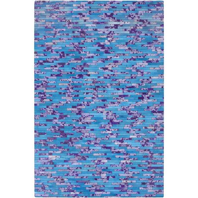Denver Cobalt/Violet Area Rug Rug Size: Rectangle 5 x 8
