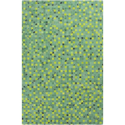 Denver Kelly Green/Lime Area Rug Rug Size: 5 x 8