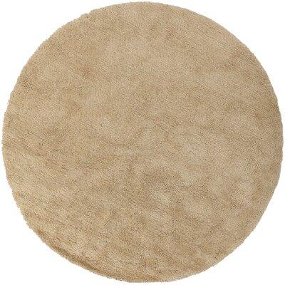 Braun Blond Area Rug Rug Size: Round 8
