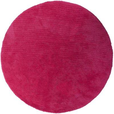 Braun Hot Pink Area Rug Rug Size: Round 8'