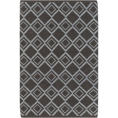 Todd Hand-Woven Charcoal/Slate Area Rug Rug Size: Rectangle 5 x 8