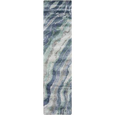 Scylla Mint/Teal Area Rug Rug Size: Runner 26 x 8