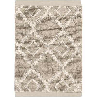 Todd Ivory/Light Gray Rug Rug Size: Rectangle 33 x 53