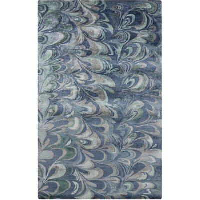 Scylla Teal Rug Rug Size: 36 x 56