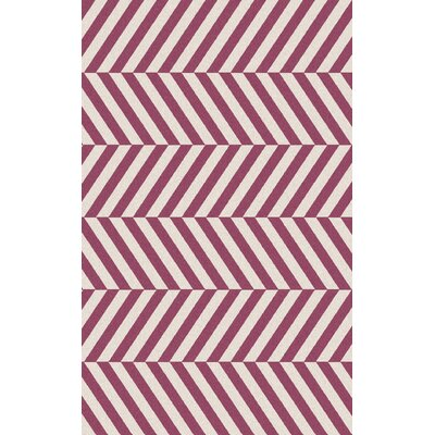 Diego Magenta/Ivory Area Rug Rug Size: Rectangle 36 x 56