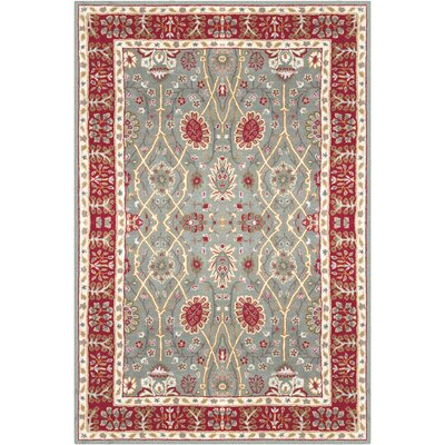 Vickers Hand-Tufted Sage/Burgundy Area Rug Rug Size: Rectangle 8 x 11