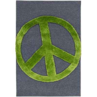 Crash Charcoal/Lime Area Rug Rug Size: 4' x 6'