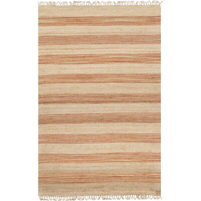 Julia Beige/Burnt Orange Area Rug Rug Size: Rectangle 2 x 3