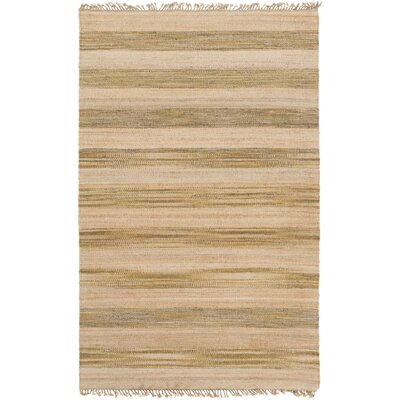 Julia Beige/Gold Area Rug Rug Size: Rectangle 5 x 8