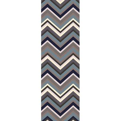 Fonda Chevron Area Rug Rug Size: Runner 26 x 8
