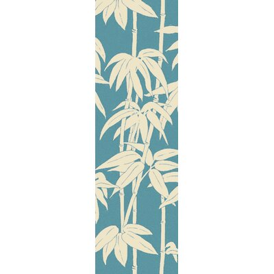 Blanford Blue/Ivory Indoor/Outdoor Area Rug Rug Size: 9 x 12