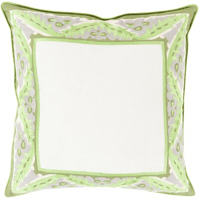 Deerpark Throw Pillow Size: 22 H x 22 W x 4 D, Color: Lime, Filler: Polyester