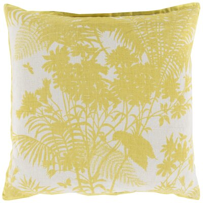 Asher Throw Pillow Color: Lemon, Filler: Down