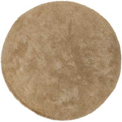 Braun Camel Area Rug Rug Size: Round 8