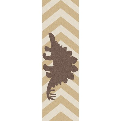 Bret Beige/Brown Area Rug Rug Size: Runner 26 x 8