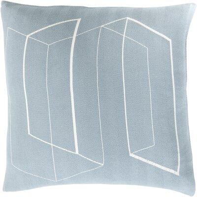 Ismay Throw Pillow Size: 22 H x 22 W x 4 D, Color: Blue, Filler: Down