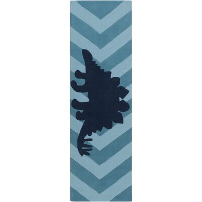 Bret Hand-Tufted Blue Area Rug Rug Size: Rectangle 8 x 11