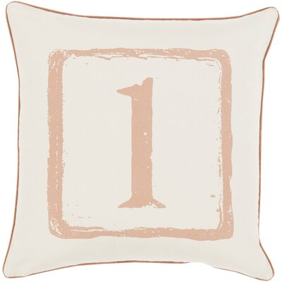 Clark Cotton Throw Pillow Size: 18 H x 18 W x 4 D, Color: Tan/Beige, Number: 1