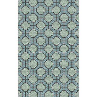 Brian Moss/Blue Geometric Area Rug Rug Size: Rectangle 33 x 53