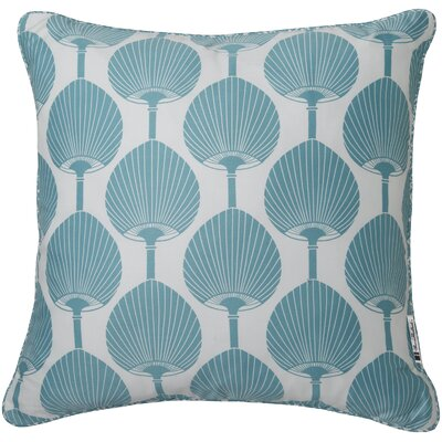 Barnabas Contemporary Square Cotton Throw Pillow Color: Teal / Ivory