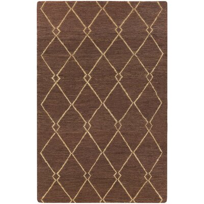 Bontang Mocha/Gold Area Rug Rug Size: Rectangle 2 x 3