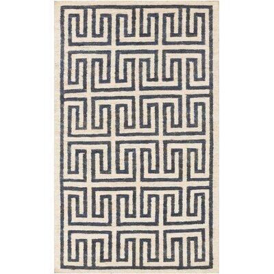 Clarke Beige/Navy Area Rug Rug Size: Rectangle 2 x 3