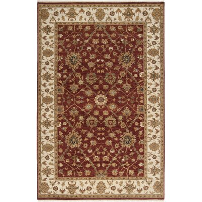 Derosier Brown/Red Area Rug Rug Size: Rectangle 2 x 3