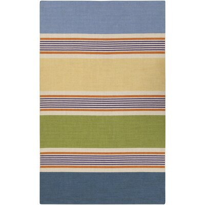 Dixon Handmade Blue Striped Area Rug Rug Size: 8 x 11
