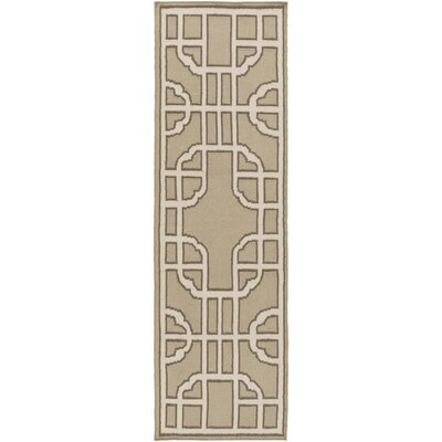 Elsmere Beige/Taupe Geometric Area Rug Rug Size: Runner 26 x 8