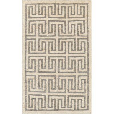 Clarke Beige/Light Gray Area Rug Rug Size: Rectangle 5 x 8