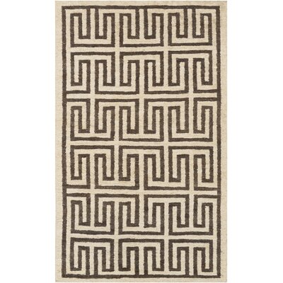 Clarke Beige/Brown Area Rug Rug Size: Rectangle 2 x 3