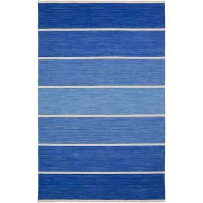 Calvin Cobalt Striped Area Rug Rug Size: 8 x 11