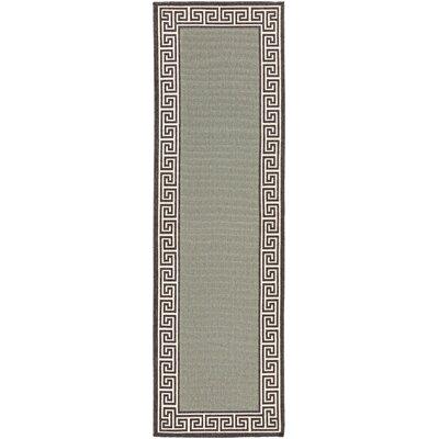 Pearce Moss/Green Indoor/Outdoor Area Rug Rug Size: Runner 23 x 79