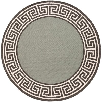 Pearce Moss/Green Indoor/Outdoor Area Rug Rug Size: Round 73