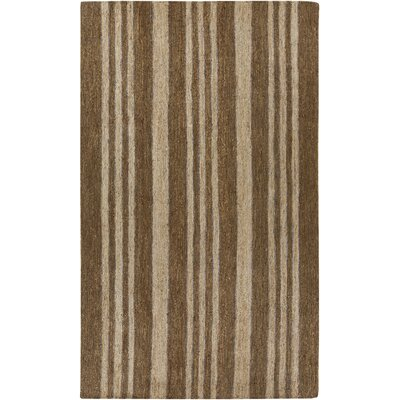 Tyler Handmade Tan/Brown Area Rug Rug Size: 2 x 3