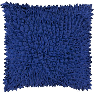 Berryville Throw Pillow Size: 20 H x 20 W x 4 D, Color: Cobalt, Filler: Down