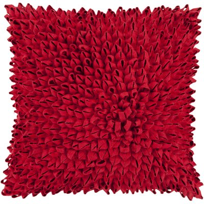 Berryville Throw Pillow Size: 18 H x 18 W x 4 D, Color: Cherry, Filler: Down