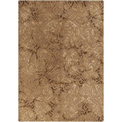 Nadene Tan Damask Rug Rug Size: Rectangle 9 x 13