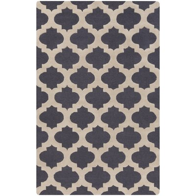 Quaker Navy Geometric Area Rug Rug Size: Rectangle 2 x 3