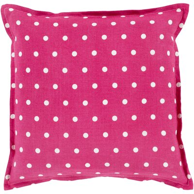 Kylie Linen Throw Pillow Size: 22 H x 22 W x 4 D, Color: Magenta