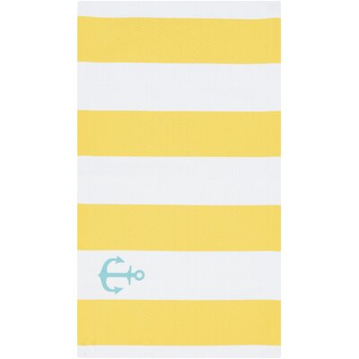 Brigham Lemon Striped Indoor/Outdoor Rug Rug Size: 2 x 3