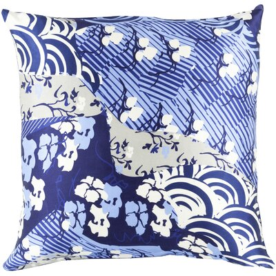 Hebert Silk Throw Pillow Size: 22 H x 22 W x 4 D, Color: Cobalt, Filler: Down