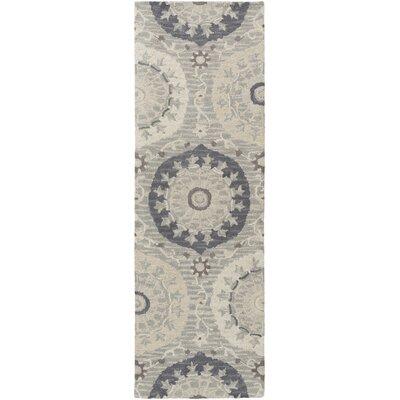 Quaker Moss Ikat/Suzani Area Rug Rug Size: Runner 26 x 8