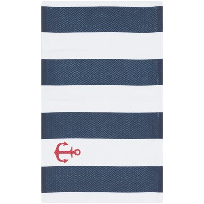 Brigham Blue Striped Indoor/Outdoor Rug Rug Size: Rectangle 4 x 6