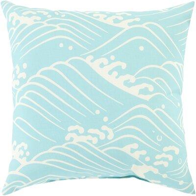 Throw Pillow Color: Aqua, Size: 20 H x 20 W x 5 D, Filler: Polyester