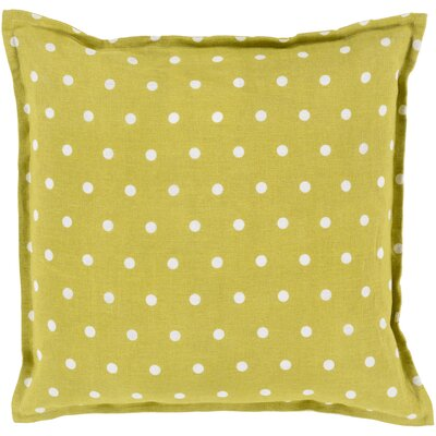 Kylie Linen Throw Pillow Size: 22 H x 22 W x 4 D, Color: Moss