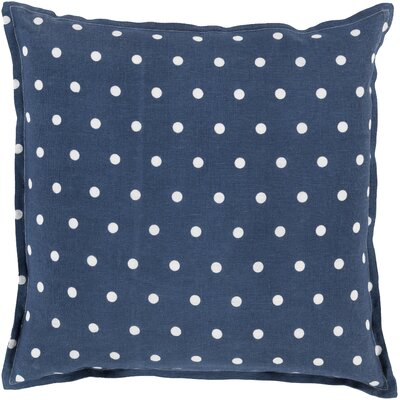 Linen Throw Pillow Size: 20 H x 20 W x 4 D, Color: Navy
