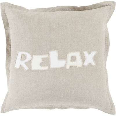 Ambrosino Relax Linen Throw Pillow Size: 20 H x 20 W x 4 D, Color: Light Gray, Filler: Down