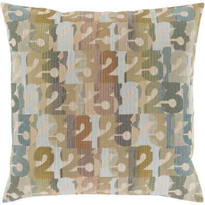 Linen Throw Pillow Size: 22 H x 22 W x 4 D, Color: Tan, Filler: Polyester