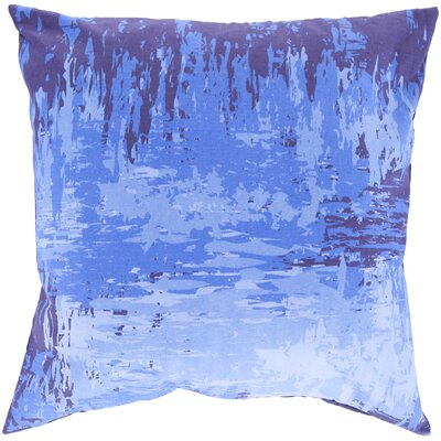 Cotton Throw Pillow Color: Sky Blue, Size: 22 H x 22 W x 4 D, Filler: Polyester